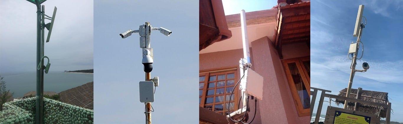 Trạm phát sóng wifi cho resort