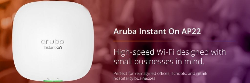 Aruba Instant On AP22 Banner