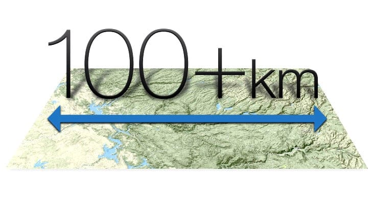 Long-Range Links 100+ km