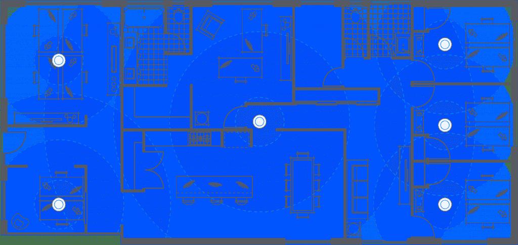 UniFi Flex HD sơ đồ thiết kế, bố trí thiết bị