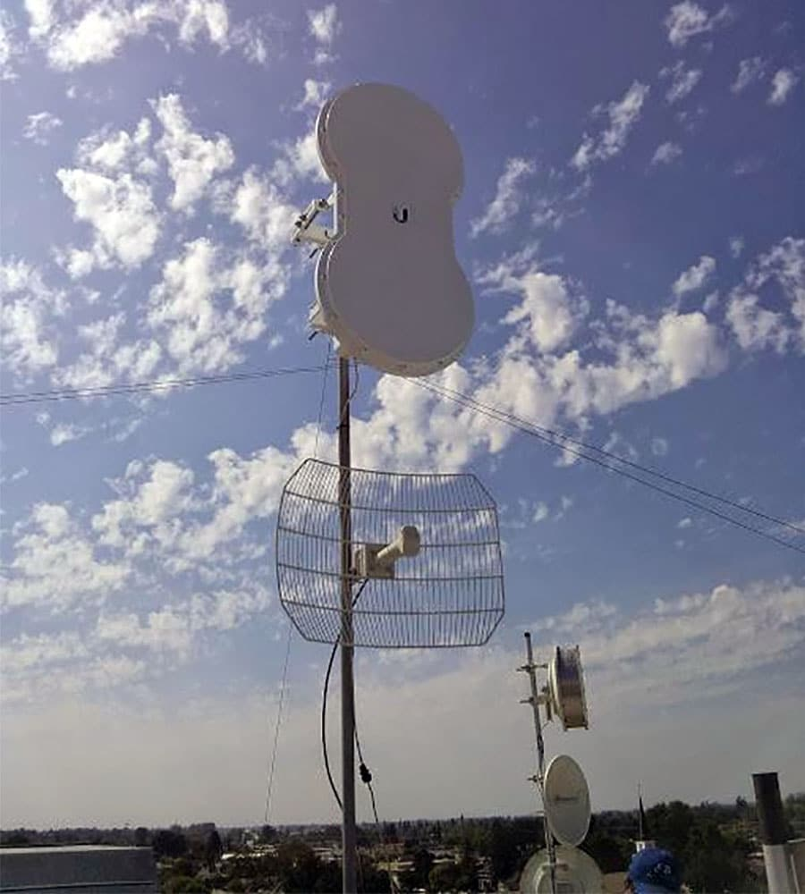 airFiber 5 lắp trạm PTS trong Thành phố