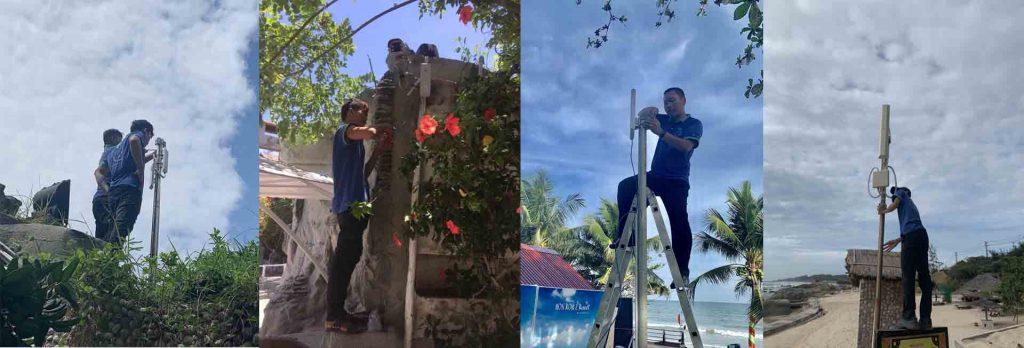 Đội Ngũ Nhân Sự Phú Yên Xanh triển Khai Hệ thống WiFi cho Resort