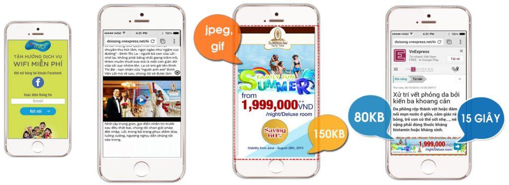 Quảng cáo trên thiết bị di động bởi Wifi Marketing Online